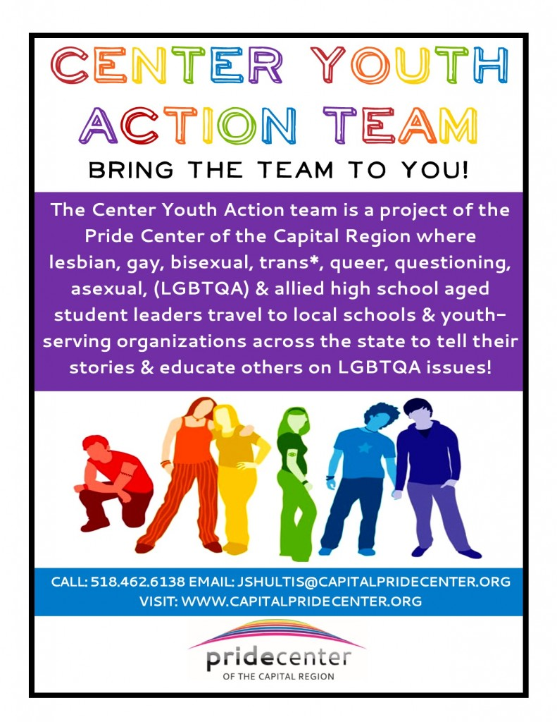 Center Youth Action Team Visit Flyer