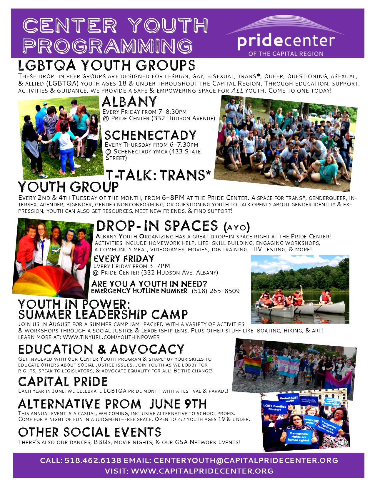 Center Youth Flyer april 2017