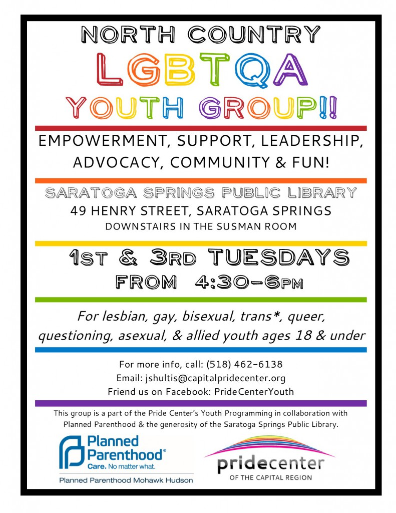 Sartoga Youth Group Flyer Library
