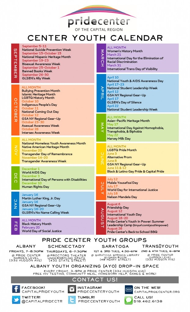 Center Youth 2016-2017 Calendar