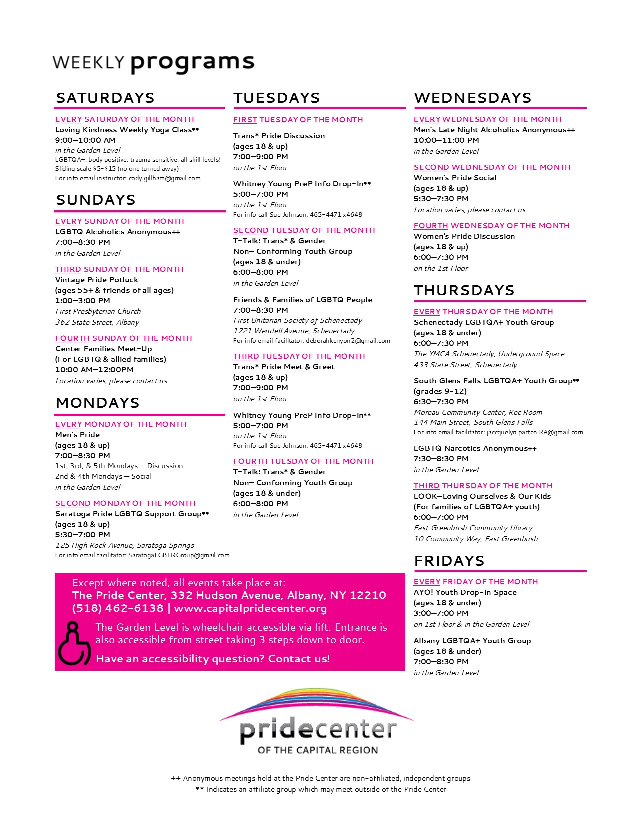 Programs and Services One Sheet April 2017 EDITABLE