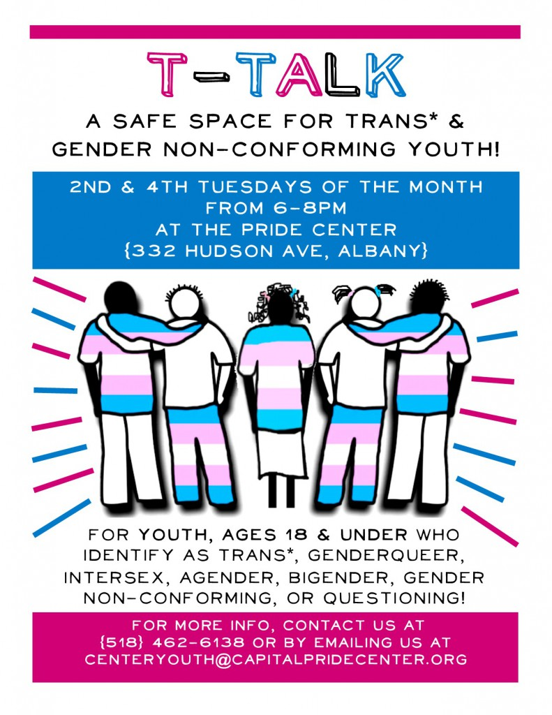 T-Talk Trans Youth Group Flyer
