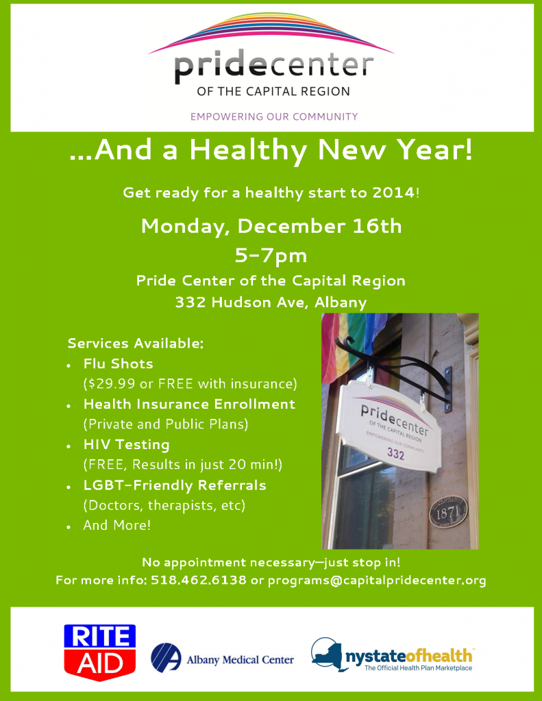 ...And a healthy new year event flyer