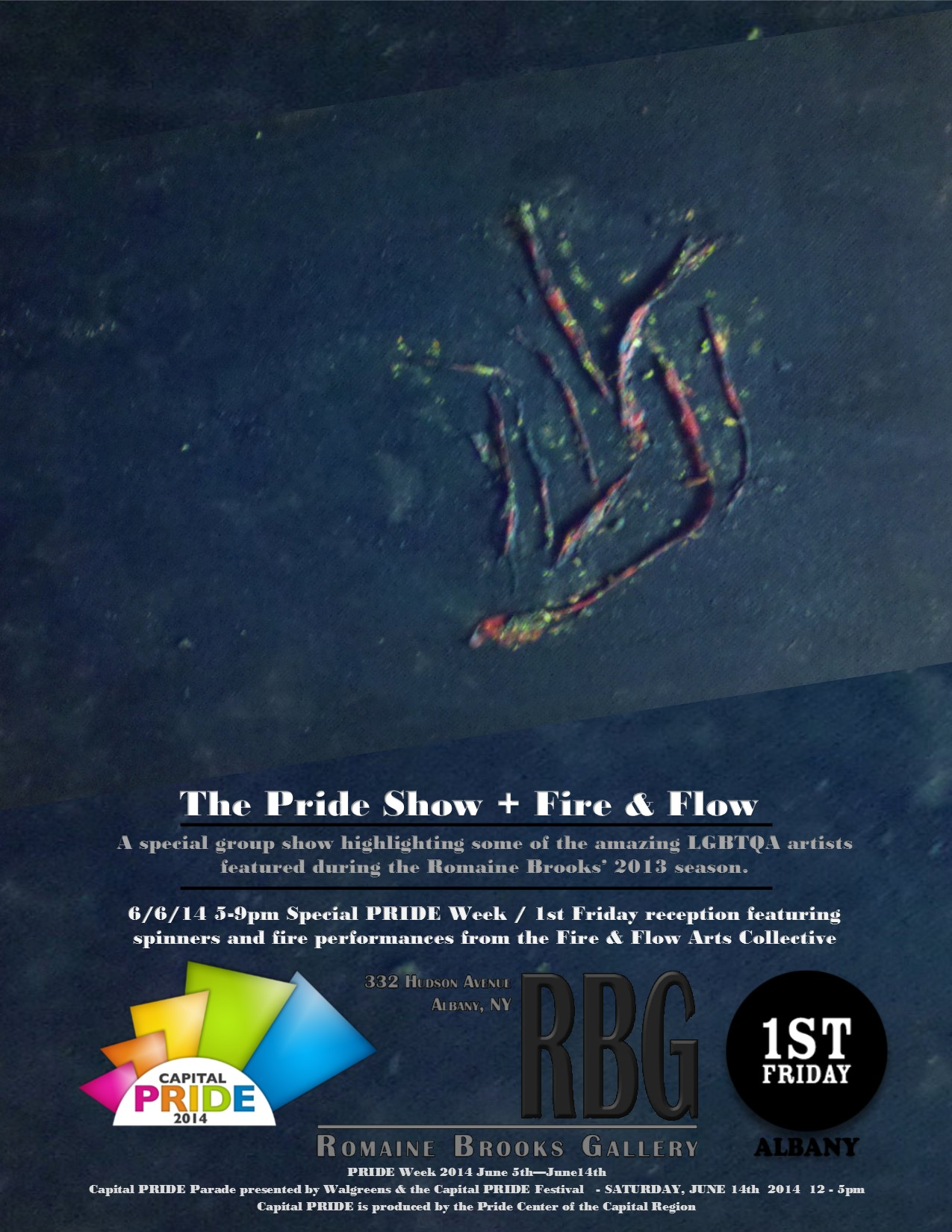 PRIDE Show + Fire & Flow poster