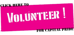 Click Here to Volunteer For Capital PRIDE